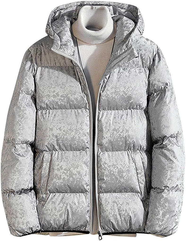 REYO Mens Jacket Autumn/&Winter Long Sleeve Leather Jacket Zipper Outwear Warm Coat Trenchcoat