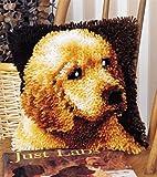 Wonderart 12-Inch by 12-Inch Latch-Hook Kit Puppy Love