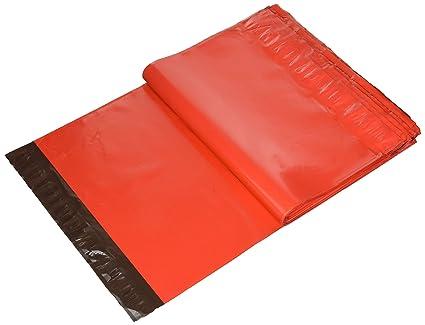 REALPACK, 100 bolsas de plástico rojo para envíos por correo, 12 x 16 cm