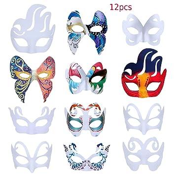 ZOYLINK Careta Blanca, 12 Piezas Máscara Blanca Mascara para ...