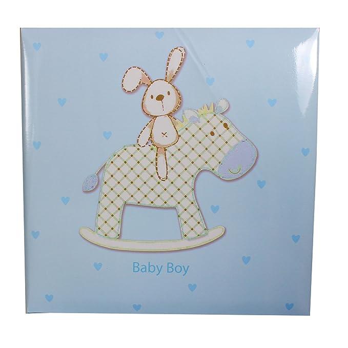 4 x 6 Baby Boy Blue Slip In Case Photo Album For 200 Photos
