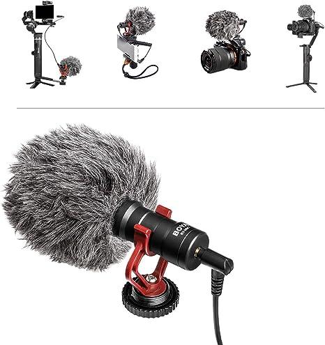 BOYA Micrófono de Video Tipo Pistola, Mini micrófono de grabación en la cámara Compacto Universal, Condensador direccional para DSLR, Videocámara, iPhone, Teléfonos Inteligentes Android, Mac, Tableta: Amazon.es: Electrónica