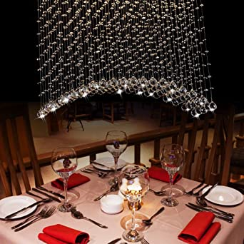 CRYSTOP Contemporary Flush Mount Chandelier Crystal Rain Drop Balls Modern  Lighting Ceiling Fixtures For Living Dining