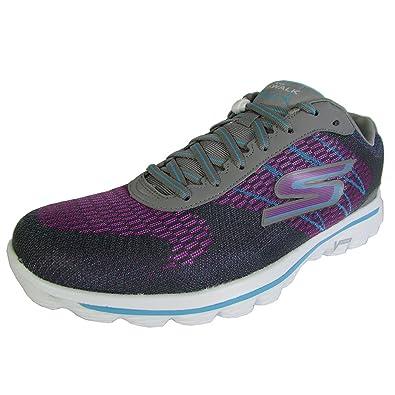 Skechers Womens GOwalk 2 Spark Lace Up Walking Sneaker Shoe