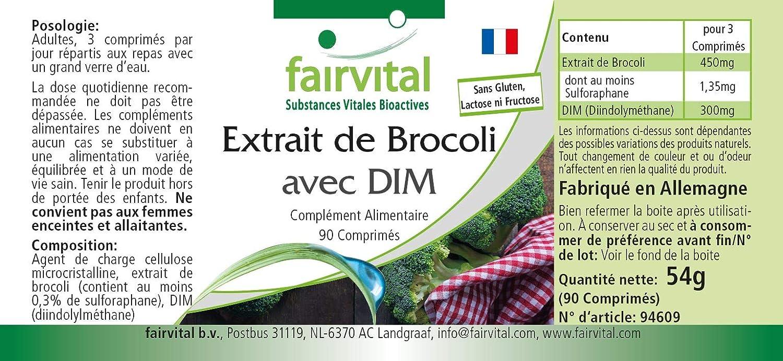 Extracto de Brócoli DIM y el sulforafano - VEGANO - Altamente dosificado - 90 comprimidos - ¡Calidad Alemana garantizada!
