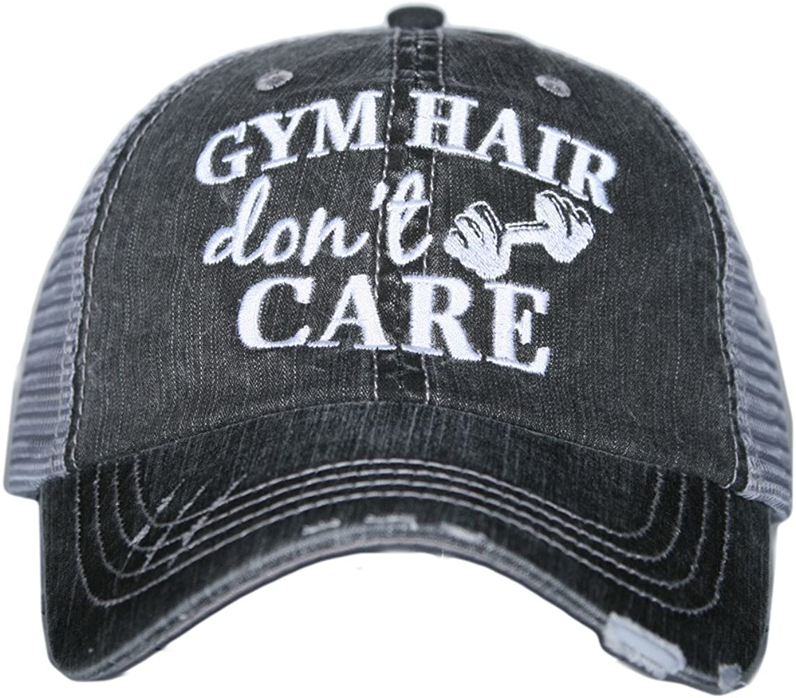 Cute Hats Gym Hair Dont Care Trucker Hat Gym Hats