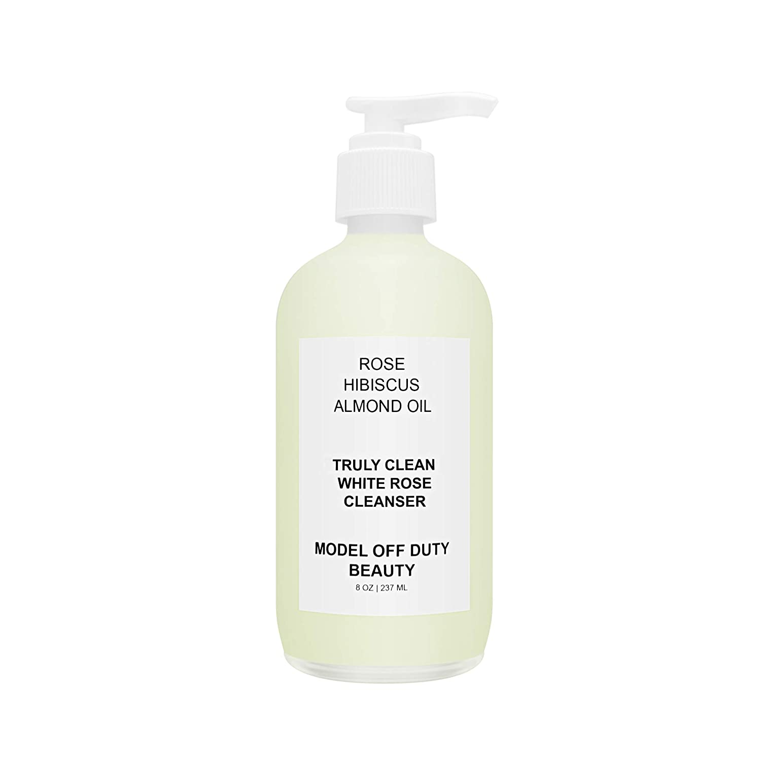 Model off Duty Beauty Truly Clean White Rose Facial Cleanser | HUGE 8 oz Natural, Vegan & Organic Ingredients | Anti-Aging Face Wash, Stops Breakouts, Balances pH, Glowing Skin Great for All Skin Type