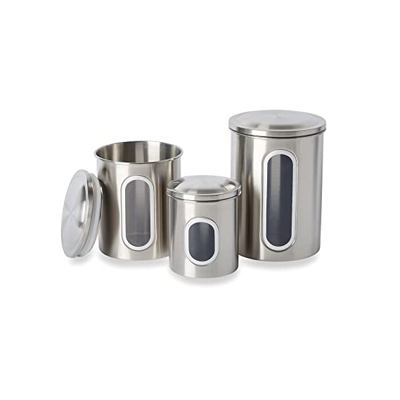 Fox Run 6103 Canister Set, Stainless Steel, 3-Piece