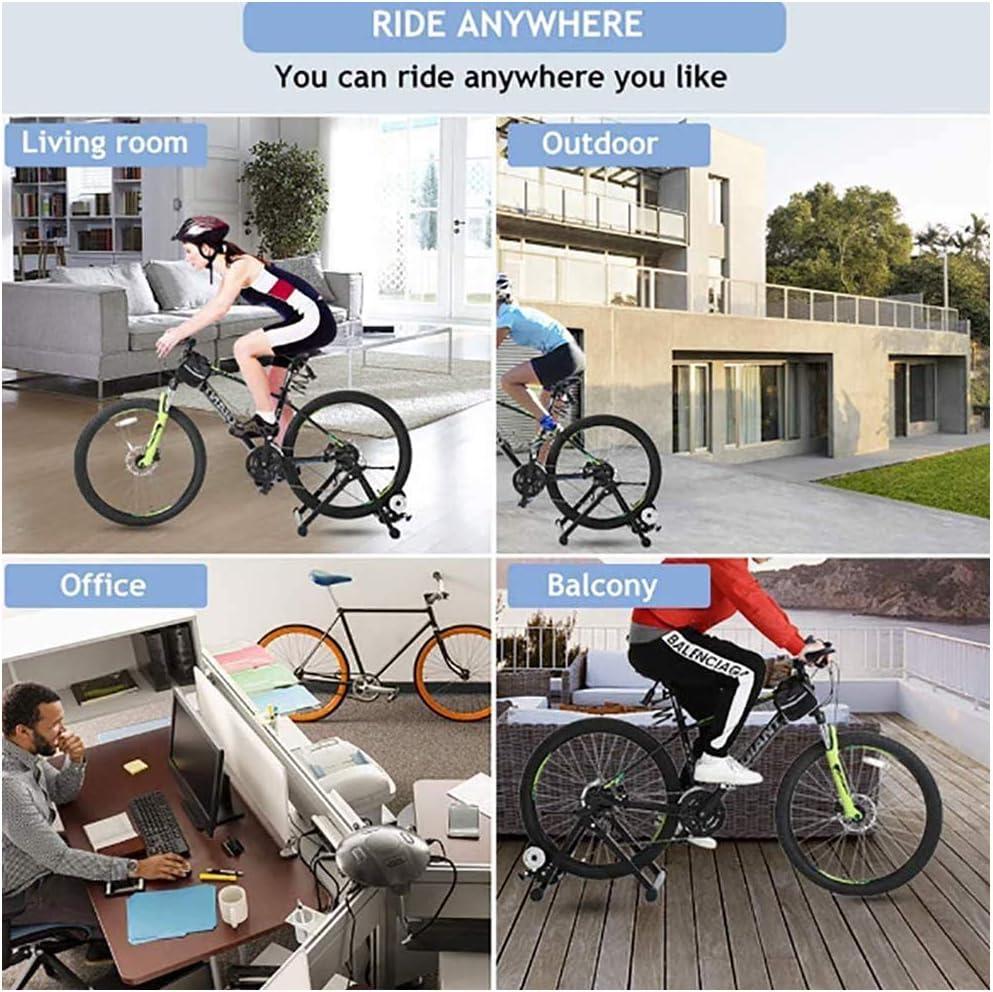 Moto Trainer soporte - cubierta soporte la bici Trainer - Ciclismo rodillo Formación - Rodillo magnético Resistencia carretera bicicleta ciclo Plataforma equitación,6 Nivel control velocidad ,Verde: Amazon.es: Deportes y aire libre