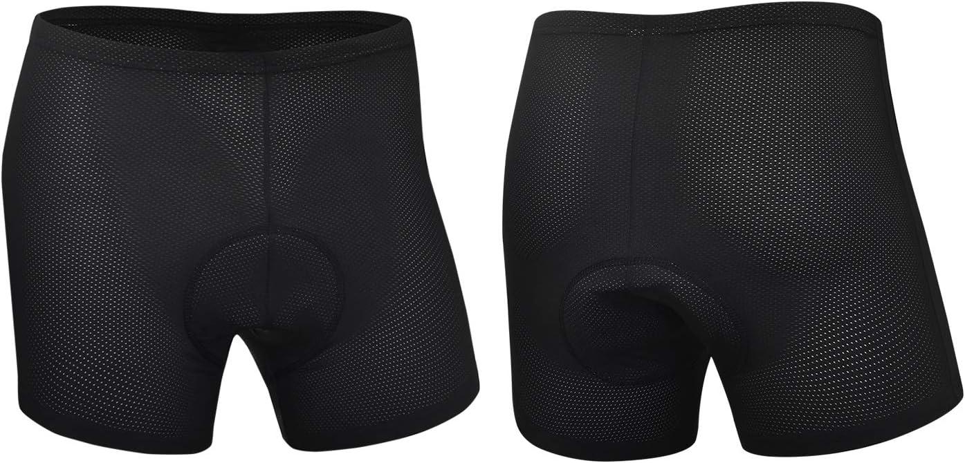 CYCWEAR Mens Cycling Underwear Shorts 3D Gel Padded Bike Undershorts MTB Bicycle Underwear