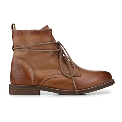Cox Damen Damen Schnür Boots aus Leder, Stiefeletten in