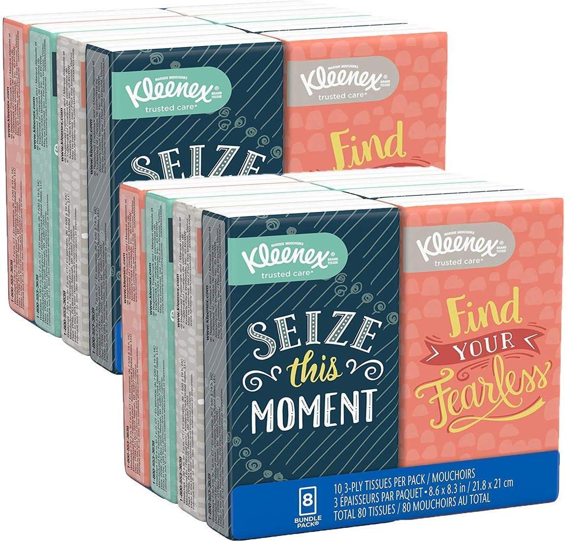 Kleenex 舒柔面巾纸随身包,更卫生更安心