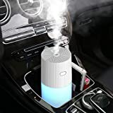 Car Diffuser Humidifiers, YJY Portable Cool Mist Humidifier for Bedroom Travel Baby, USB 300mL Auto Shut-off 7 Colors…