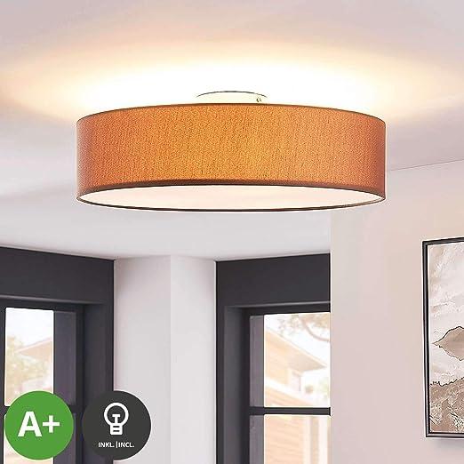 LED Lámpara de techo Sebatin (Moderno) en Marrón hecho de ...