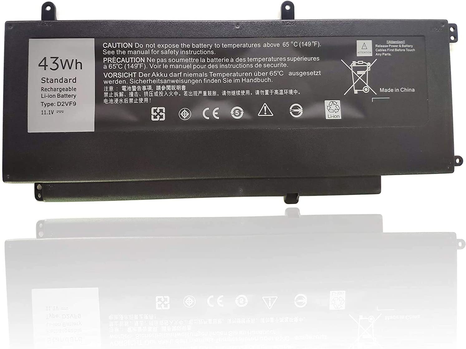 FLIW D2VF9 Replacement Battery Compatible with Dell Inspiron 15 7547 7548 0PXR51 PXR51 [11.1V 43WH]