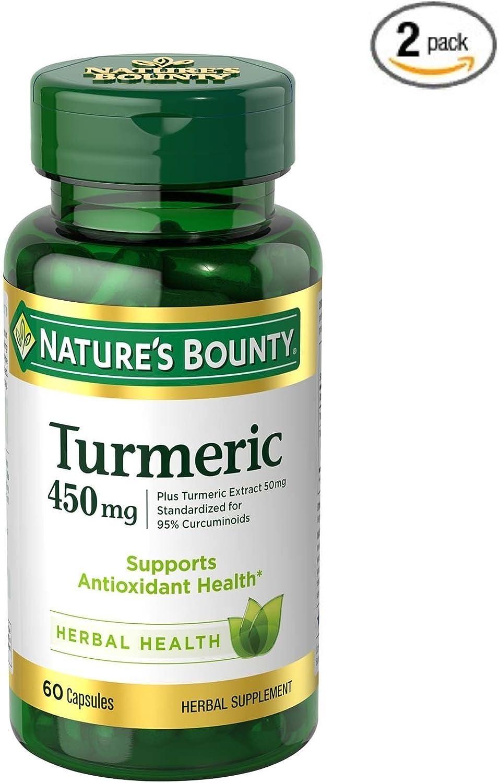 Nature s Bounty Turmeric Curcumin 450 mg, 60 Capsules