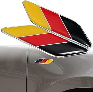 Alamor 2 Unids 3D Bandera Alemana Etiqueta Engomada De La Pegatina Emblemas Decal Decor Para Coche Carro Bike Laptop: Amazon.es: Hogar
