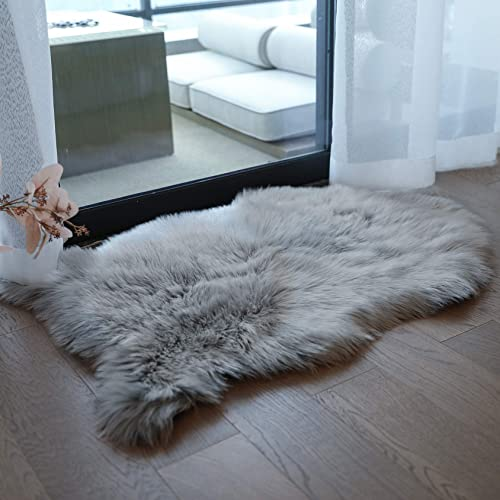 Coumore Ultra Soft Faux Sheepskin Fur Rug White Fluffy Area Rugs Chair Couch Cover Fuzzy Rug
