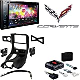 """Pioneer AVH-290BT Multimedia DVD Receiver with 6.2"""" WVGA Display and Built-in Bluetooth Metra DP-3021B Black Double DIN Stereo Dash Kit for 1997-2004 Chevrolet Corvette"""
