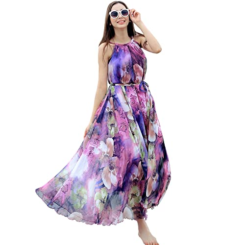 Medeshe Comfortable Lightweight Chiffon Prom Evening Maxi Dress Full Bridesmaid Dress