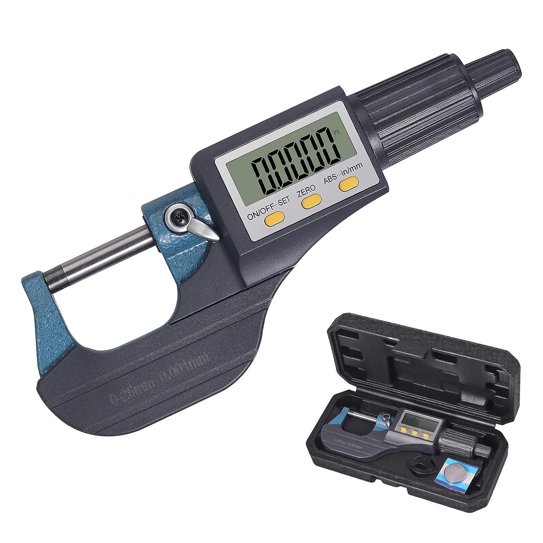 "Digital Electronic 6/"" Mirometer and 0-1/"" Caliper Set Inspection Measurement Kit"