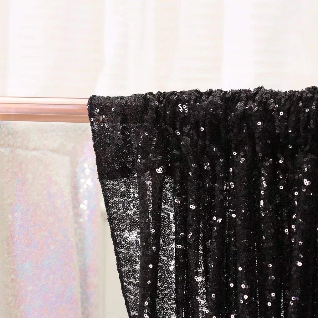 B-COOL Iridescent Sequin Backdrop 4ft x8ft Sparkly Christmas Sequin Backdrop Curtain Sequin Photography Background Christmas Decoration
