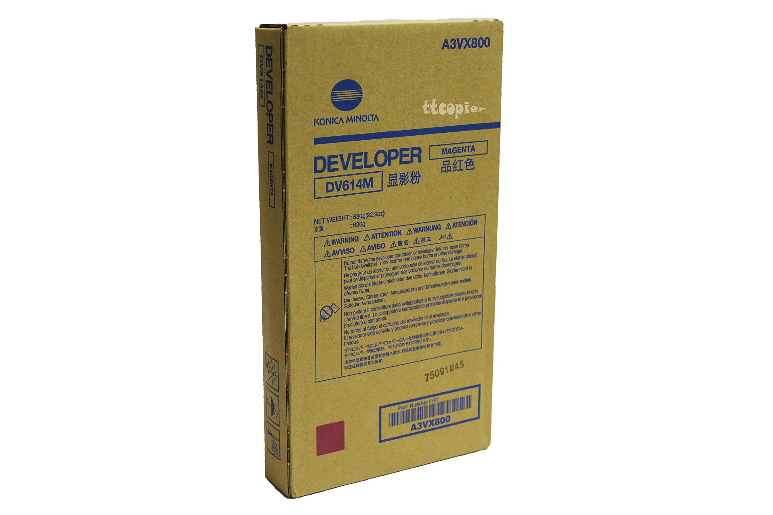 Genuine Konica Minolta A3VX800 DV614M Magenta Developer for C1060 C1070