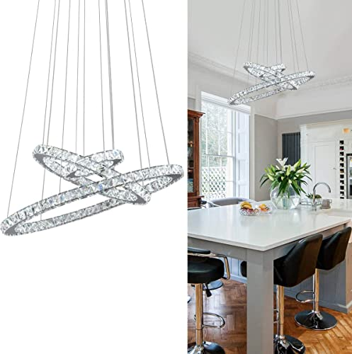 KAI Crystal Chandelier Island Pendant Light Contemporary Not Dimmable LED Lamp
