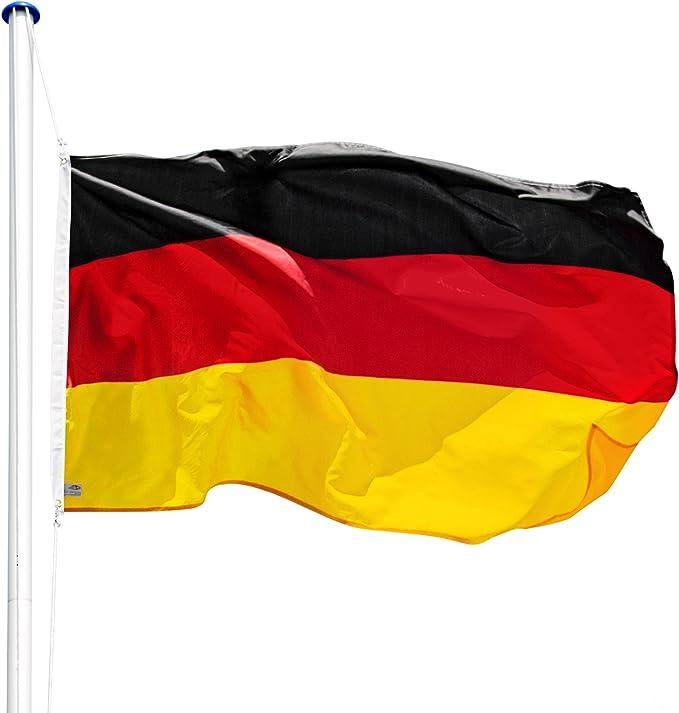 TecTake Mástil para Bandera 6,25 m con Bandera y Cuerda Palo asta Aluminio - Varios Modelos - (Alemania | no. 402125): Amazon.es: Hogar