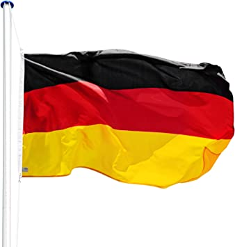 TecTake Mástil para Bandera 6,25 m con Bandera y Cuerda Palo asta Aluminio - Varios Modelos - (Alemania   no. 402125): Amazon.es: Hogar