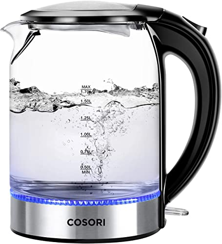 COSORI Electric Kettle (BPA-Free) Glass Boiler Hot Water & Tea Heater