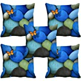 meSleep Butterfly 3D Cushion Cover (16x16) Set of 5