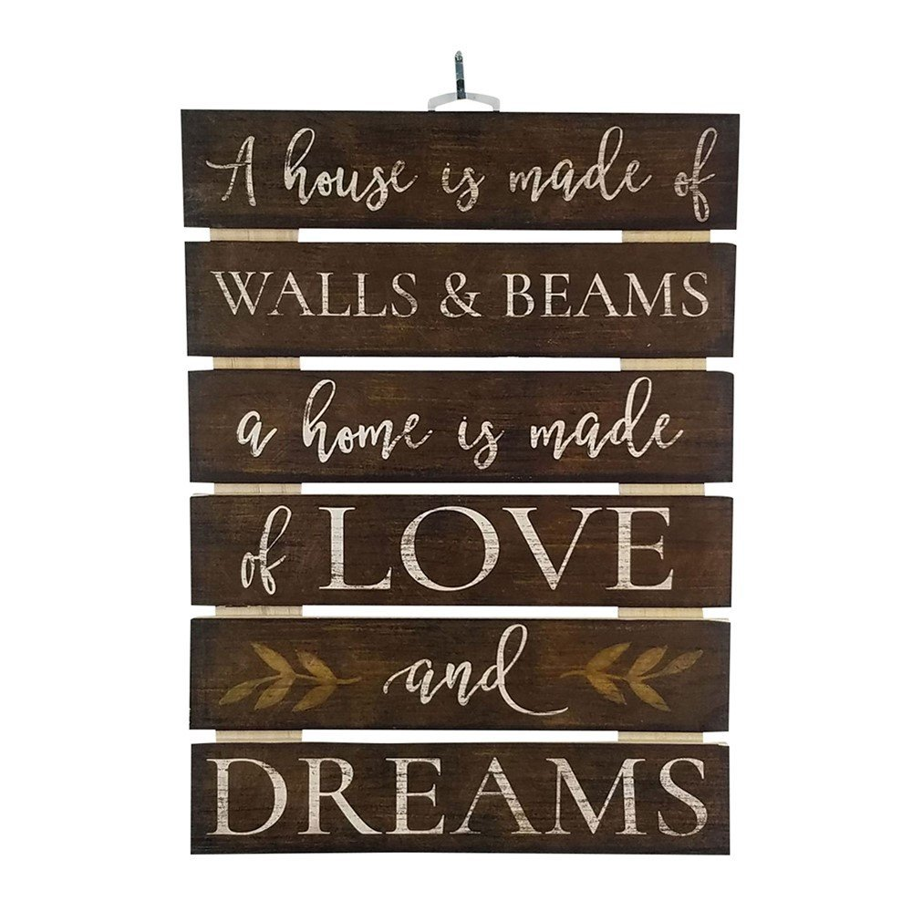 "Imprints Plus Home Made Of Love Inspirational Reclaimed Wood Sign, 12"" x 16.25"" Rustic Wall Decor Plaque with Hangers Bundle by 12600005"
