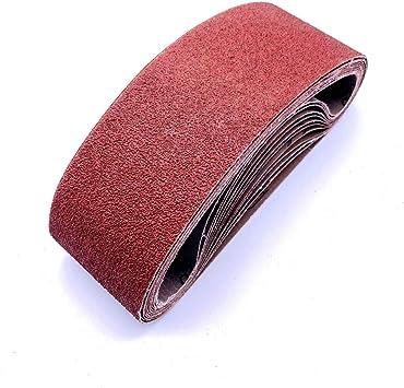 ALEKO 10BELT150G3X18 Aluminum Oxide Sandpaper Sanding Belts 3 x 18 inches 150 Grit Lot of 10 3-Inch x 18-Inch 150 Grit