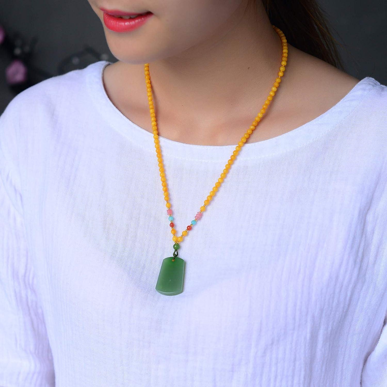 Genuine AAA Quality Hetian Jade Green Jasper Necklace Pendants Crystal Gemstone Round Beads