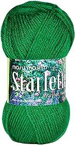 Mary Maxim Starlette Yarn - Green Grass - 100% Ultra Soft Premium Acrylic Yarn for Knitting and Crocheting - 4 Medium Worsted Weight