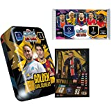 Match Attax 2020-21 Topps Champions League Cards - Mega Tin + 1 Bonus Promo Pack (55 Cards, 15 Exclusive Cards + LE Gold…