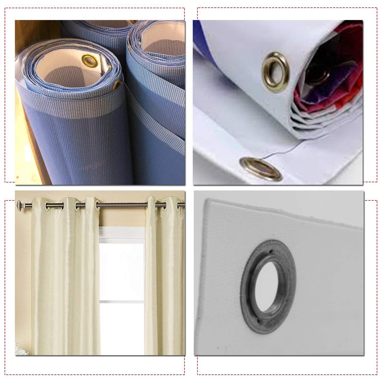 42mm Pl/ástico Ojales Arandelas CON ARANDELAS para Cortinas Grande Plateado cortinas o Lonas por Trimming Shop L