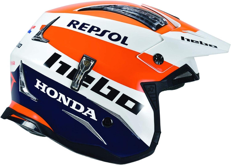Hebo Zone 4 Montesa Team Iii Repsol Fibre Trials Helmet Large Blue Orange Sport Freizeit
