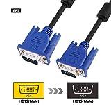 VGA Cable, SZCTKlink1080P 15-pin VGA to VGA(1.8m,Black)-C1016-01-6ft-uk