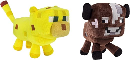 "Minecraft Brown Baby Cow Video Game Plush 6/"" Stuffed Toy Animal Kids Boys Girls"