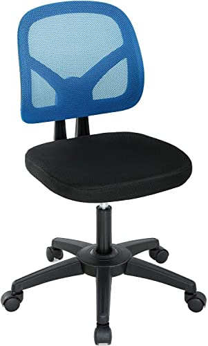 Computer Desk Chair Low-Back Ergonomic Office Chair-Executive Armless Mesh Task Chair w/Adjustable Height Lumbar Support