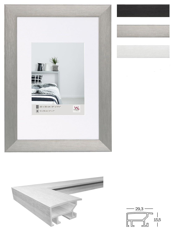 Walther Aluminiumrahmen ALULINE silber 30 x 40 cm Bilderrahmen Portrait Rahmen