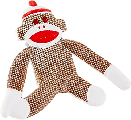 12-Pack EYELET OUTLET Notions in Network Shape Brads-Sock Monkey