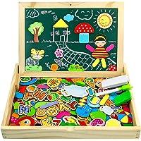 jerryvon Puzzle Magnetico Niños 160 Piezas de Madera