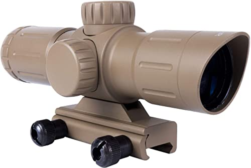 Monstrum 3x30 Ultra-Compact Rifle Scope with Illuminated Range Finder Reticle