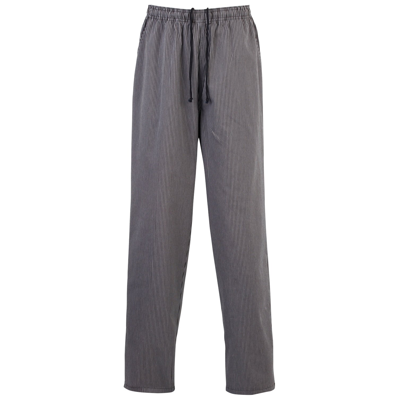 Premier Essential Unisex Chefs Trouser / Catering Workwear (3XL) (Black/ Gray Fine Stripe)