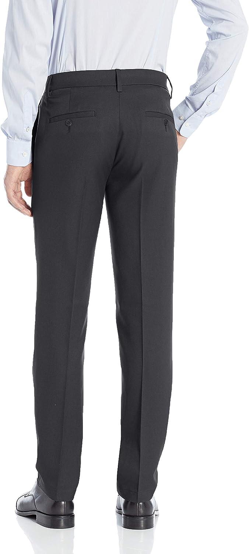 Haggar Mens Cool 18 Pro Slim Fit Premium Flex Flat Front Pant