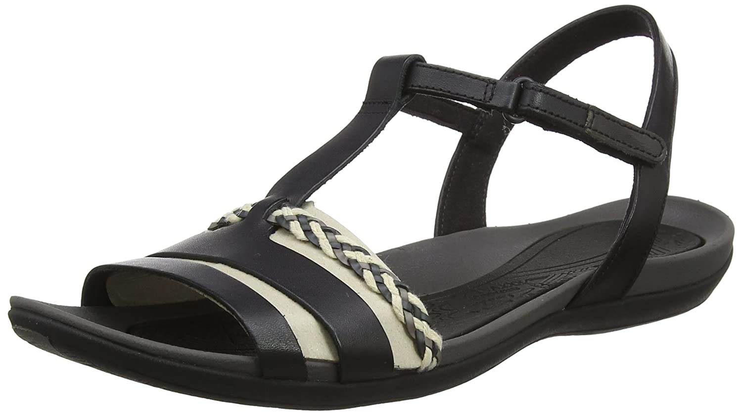 Clarks Tealite Grace, Salomés Tealite Femme Noir (Black Grace, Leather Noir -) d4ff99f - shopssong.space