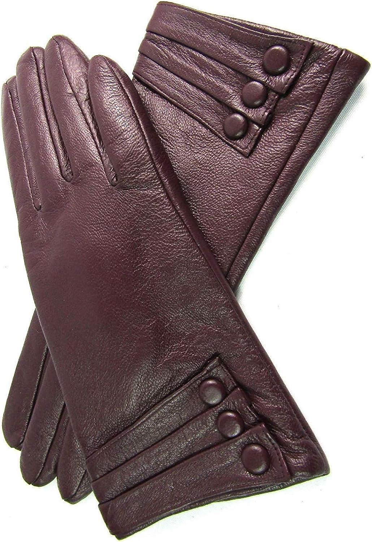 Unbekannt Damen Weiches Premium Leder Handschuhe Vollst/ändig Gef/üttert